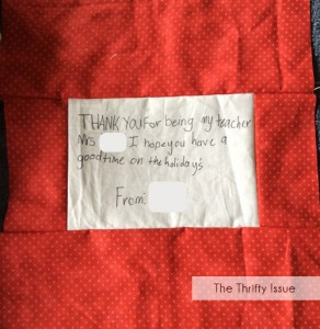 How to make a note cushion - great gift idea