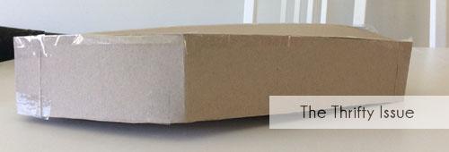 Add sides to your DIY Cardboard Coffin
