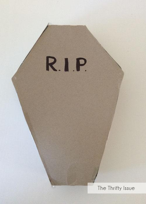 Finished DIY Cardboard Coffin