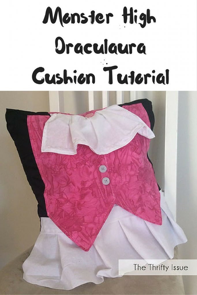 Monster High Draculaura Cushion Tutorial