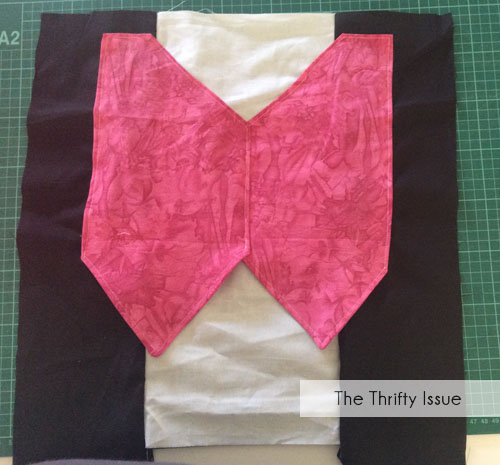 Sew vest on Draculaura cushion