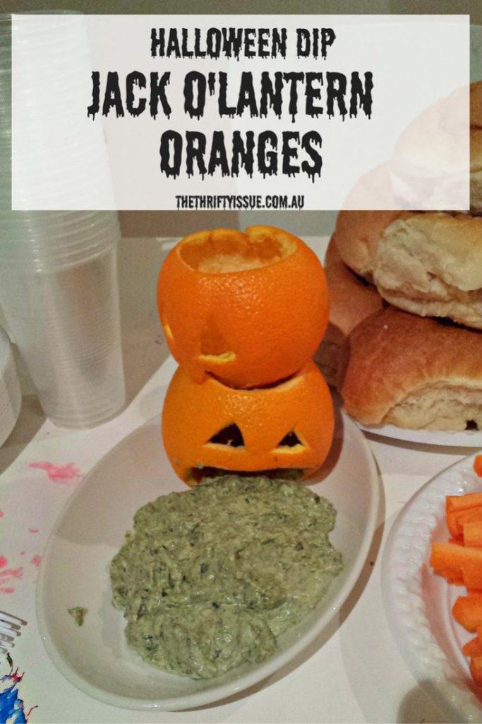 Halloween dip jack o'lantern-oranges