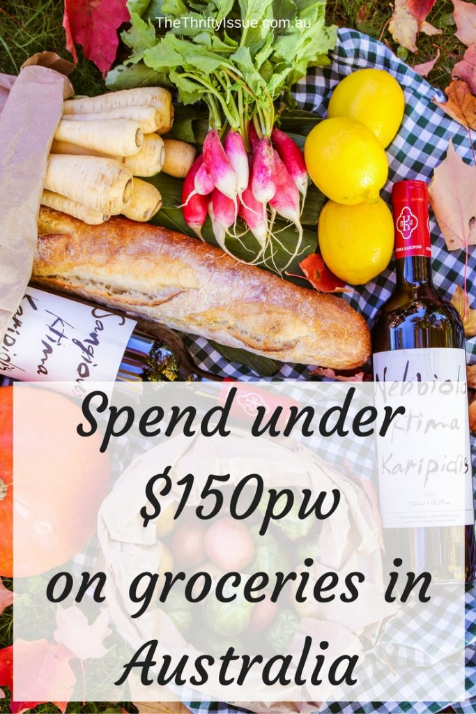 Spend under $150pw on groceries in Australia
