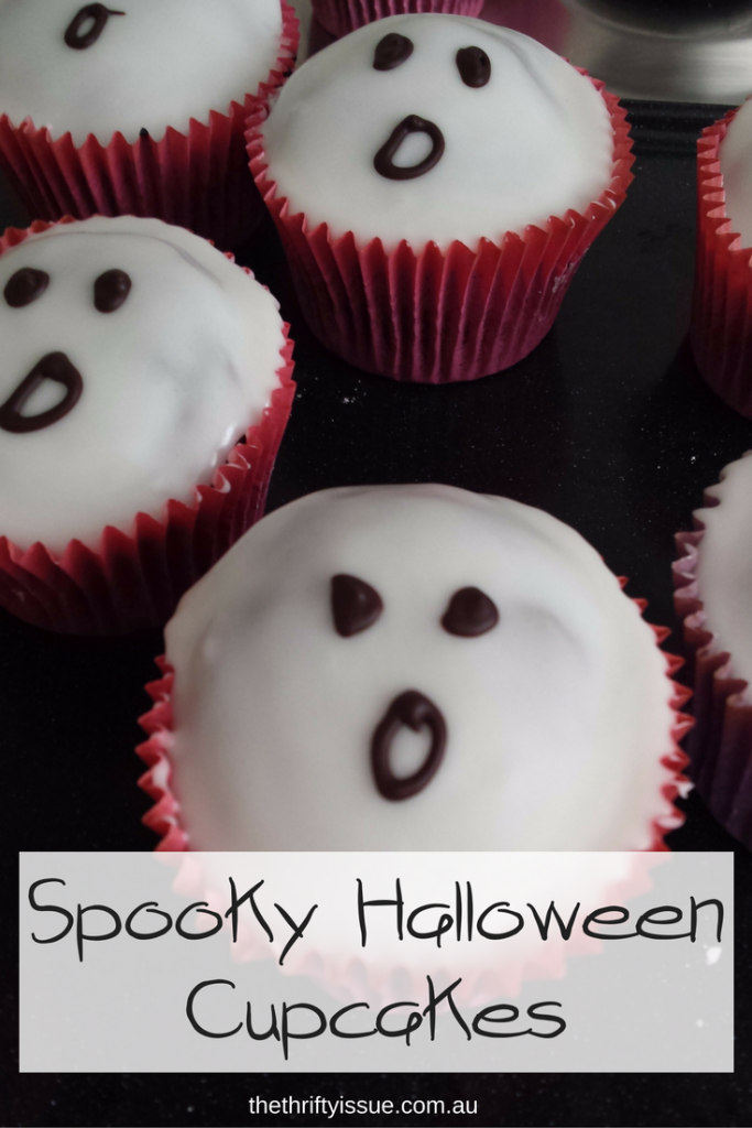 Spooky Halloween Cupcakes - ghosts and brains